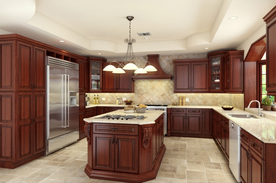 Cherry Antique Kitchen Cabinets @ BuyCabinetDirect.Com