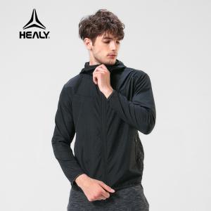 HEALY希利运动新品夜跑反光风衣男户外训练健身连帽外套