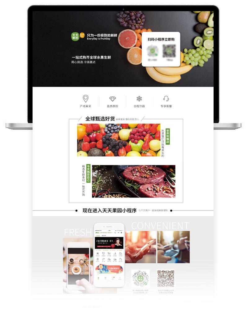 天天果园网站UI