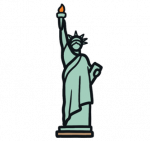 Statue-of-Liberty-Map-Icon---Landmark-New-York-USA-EYFS - Copy