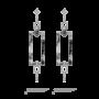 墨翠几何钻石耳环