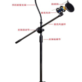 MV microphone tripod floor stand with small spray net