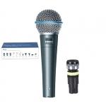 The expanded frequency response of the Beta 58A dynamic microphone can handle any vocal range, and high quality means years of dependable use