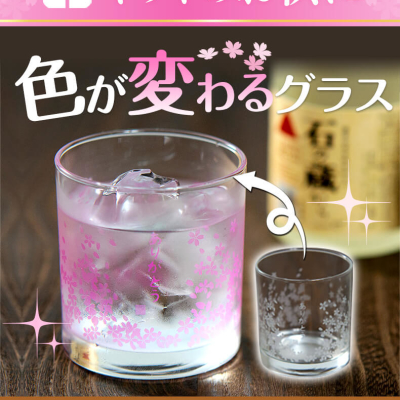Sakura Cool Reaction Glass (Made in Japan)