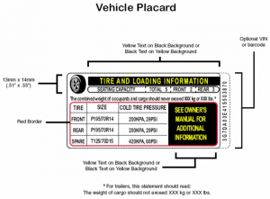 Tire Placard