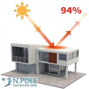 NPOLE 冰凍漆 反射示意圖