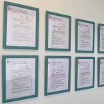 offer letters on wall