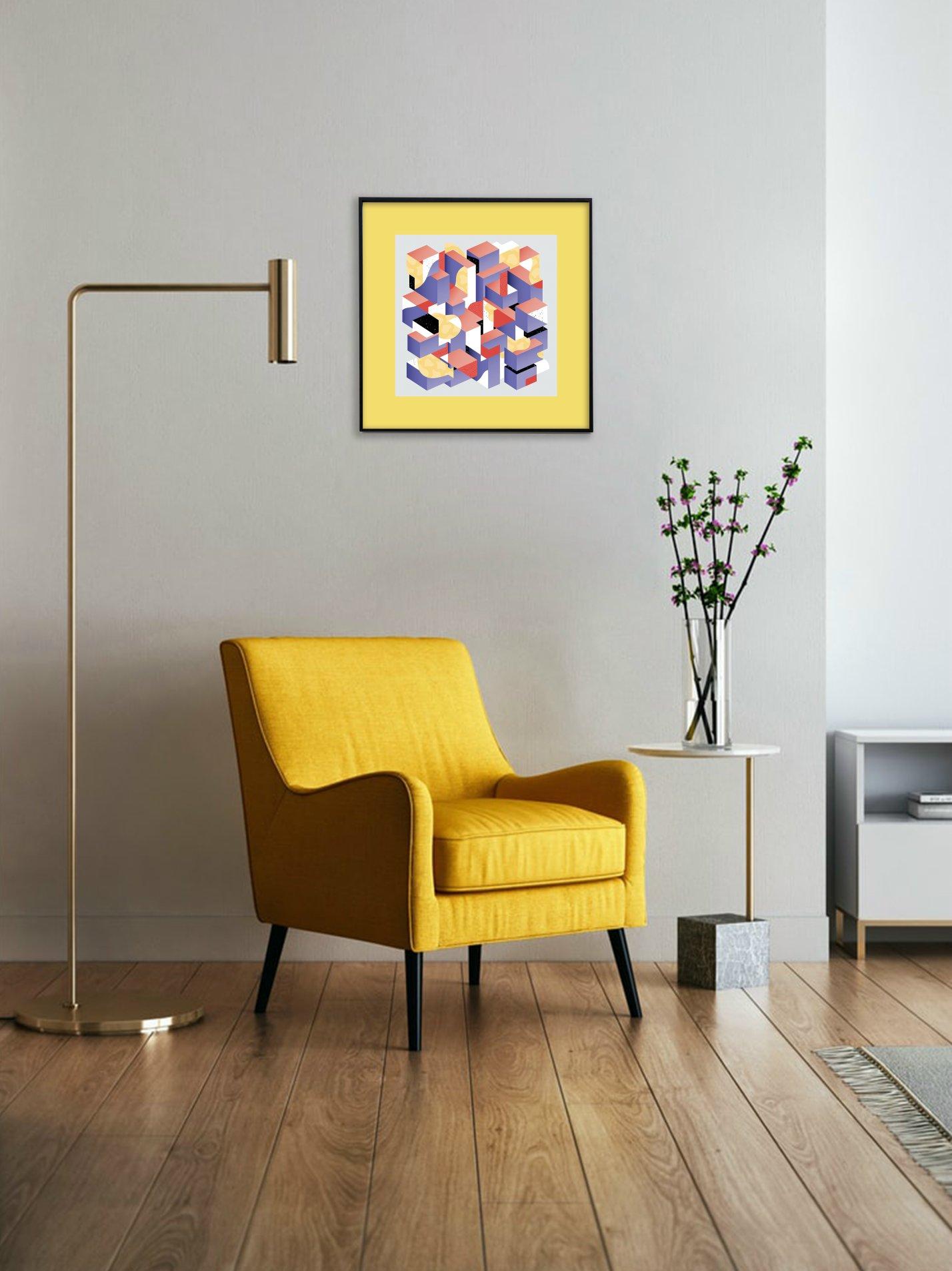 Untitled Geometric - yellow