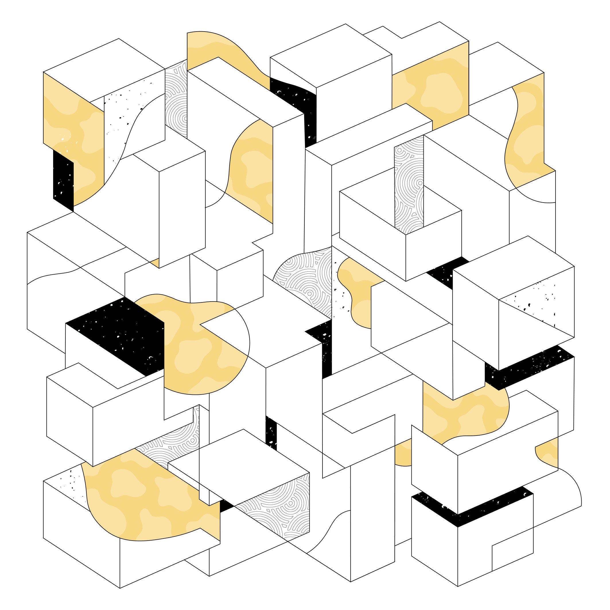 Untitled Geometric - yellow  (DIY)
