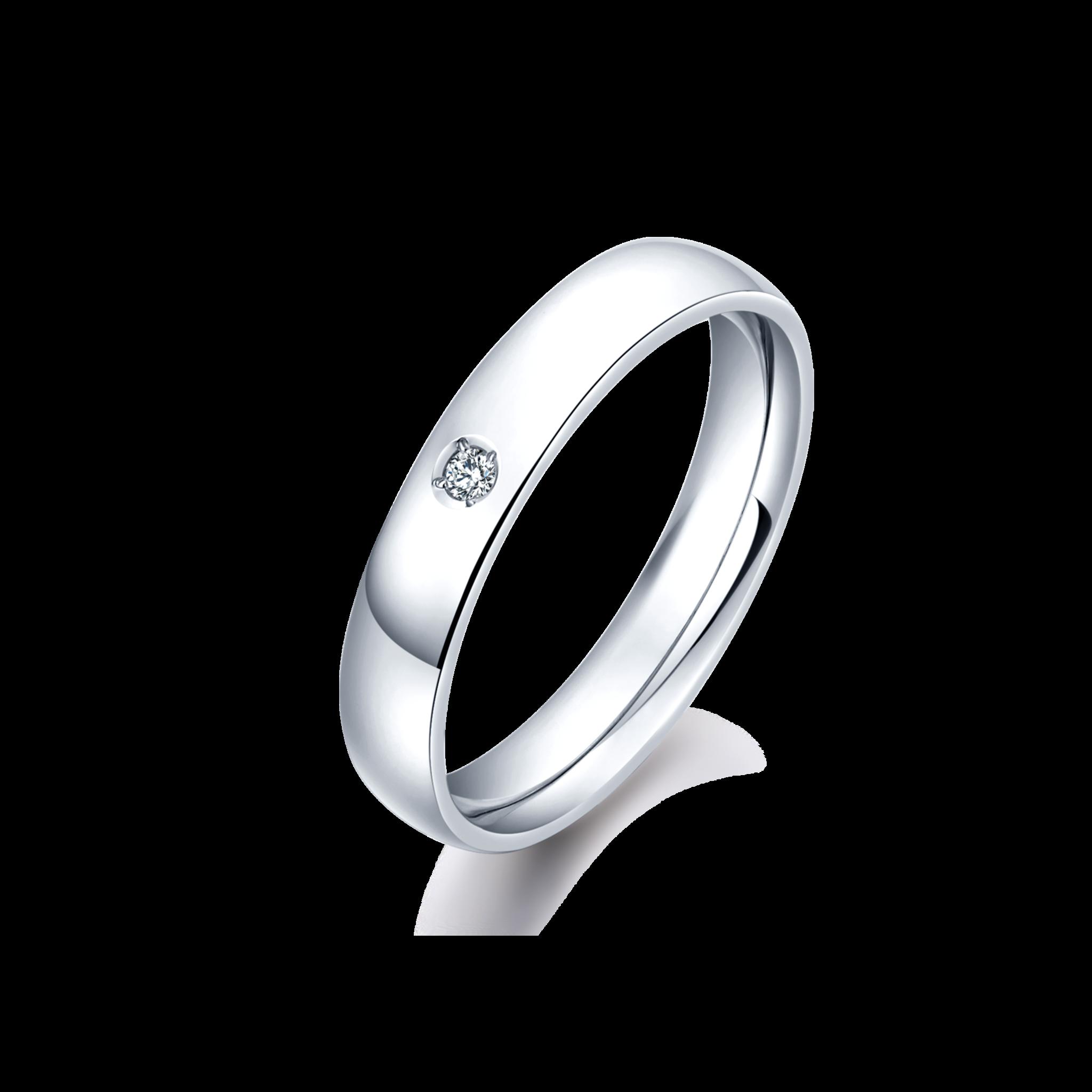SAKURA Collection PT950 单钻 圆环对戒-女 10999