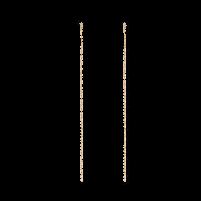 Honey Ball Collection 9K黄金 钻石亮片 长链条耳环 1699