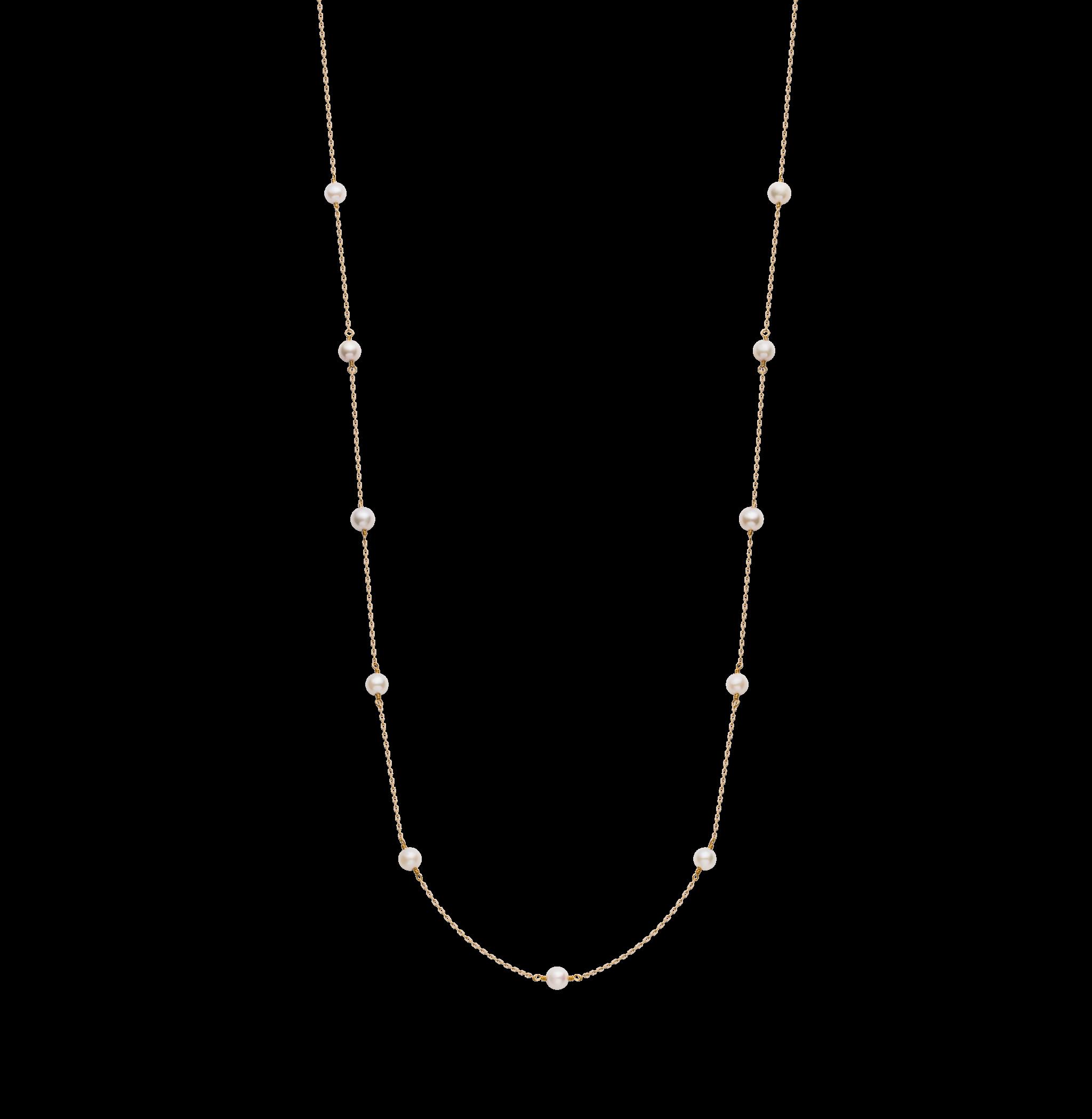 Spuma Collection 9K黄金Akoya珍珠 长链 1699