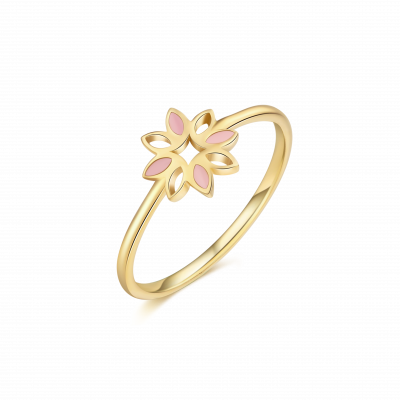 Revive Collection 18K 珐琅花儿戒指 ¥2999