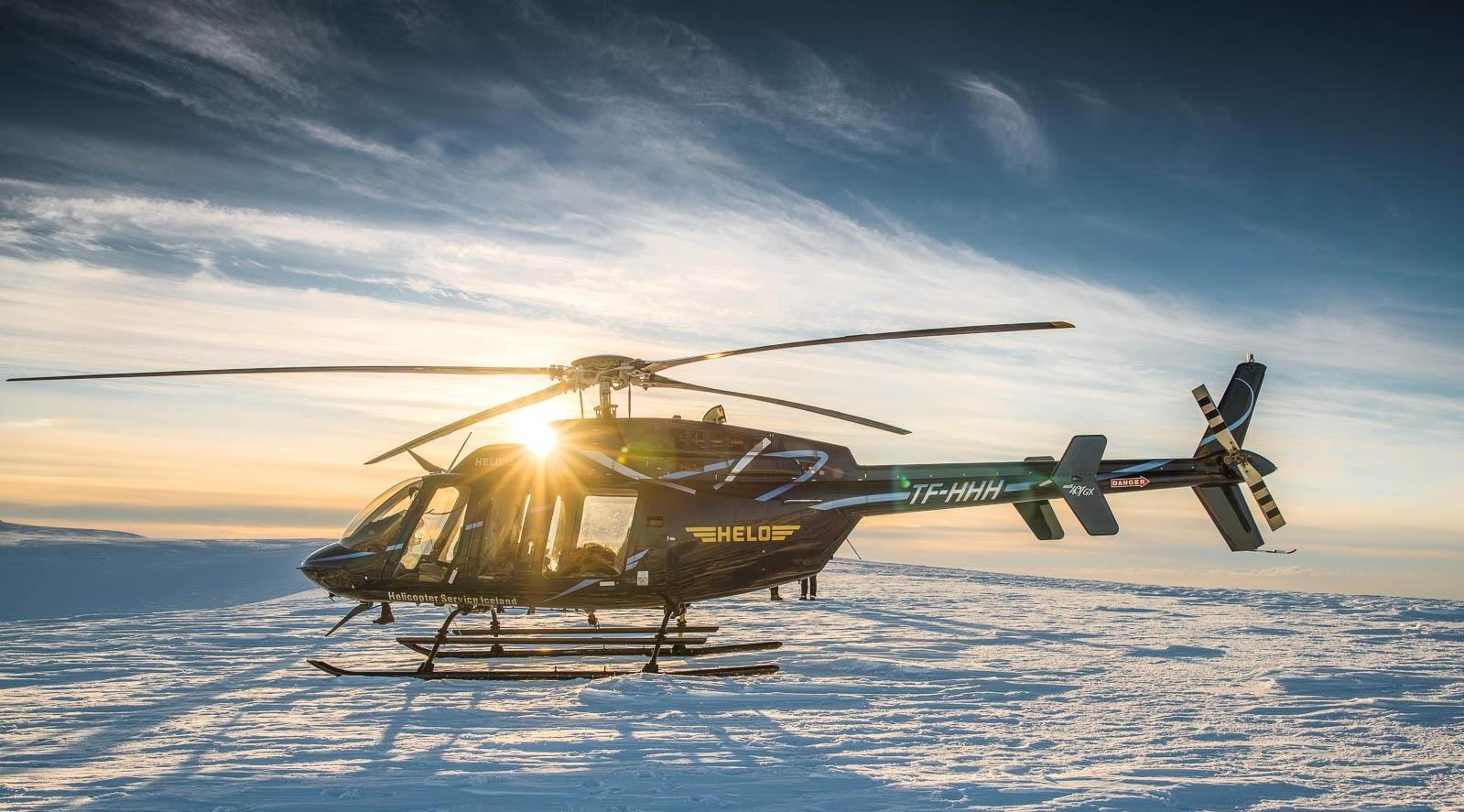 冰岛直升机