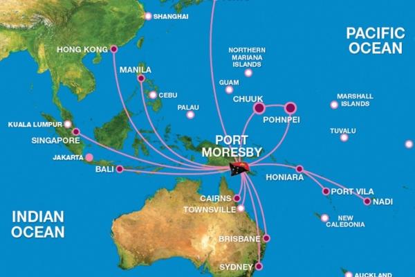 Air Niugini Network coverage -Air Niugini China website (Medium)