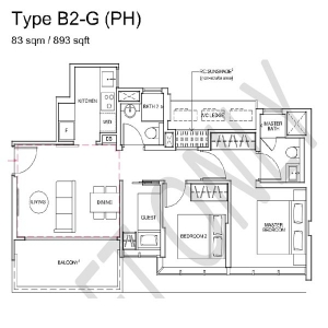 Wilshire-Residences-Penthouse-2-Bedroom-Floor-Plan3
