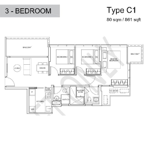 Wilshire-Residences-3-Bedroom-Floor-Plan