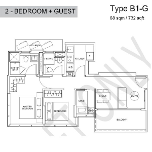 Wilshire-Residences-2-Bedroom-+-Guest-Room-Floor-Plan