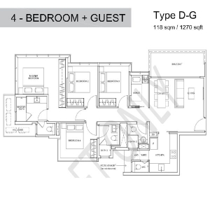 Wilshire-Residences-4-Bedroom-Guest-Room-Floor-Plan