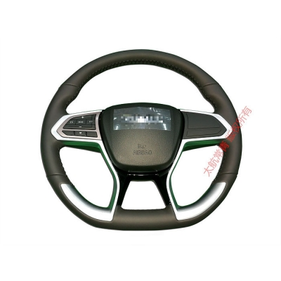 Top grain leather steering wheel
