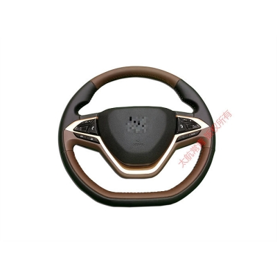 Luminescent striped steering wheel