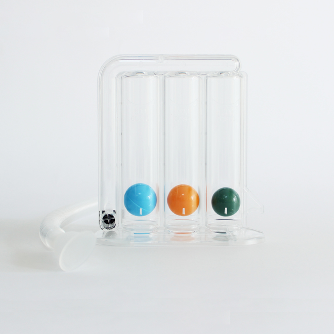 Three Ball Incentive Spirometer for Lung Exerciser/Respiratory Exerciser