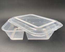1100ml 雙格飯盒配蓋
