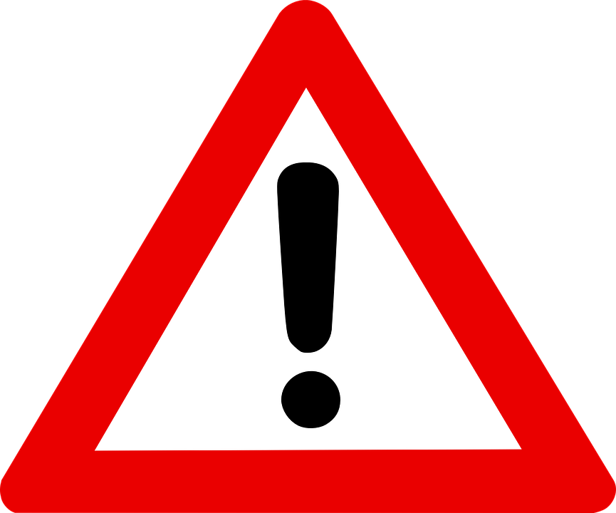Warning Sign, Exclamation Mark In Red Triangle, Alert