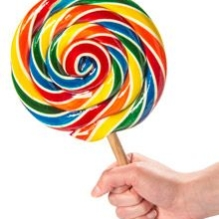 Giant Rainbow Lollipop