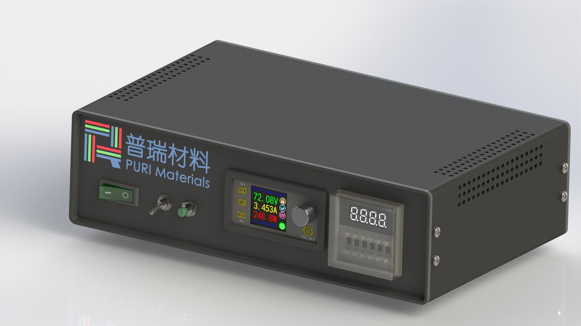 可调电源盒-侧视图