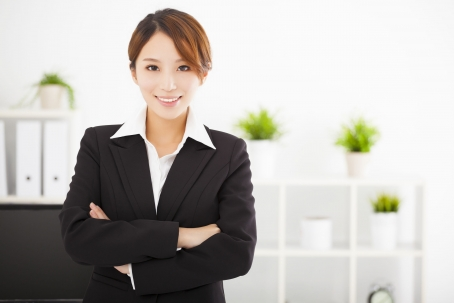 37185259 - young business woman working in the office