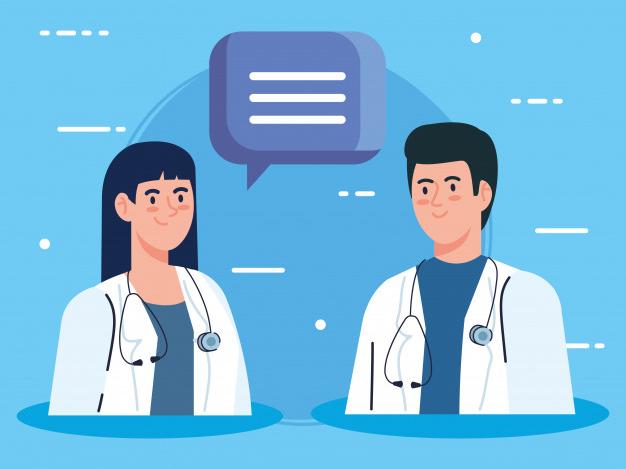 couple-doctors-with-stethoscope-speech-bubble_24877-63679